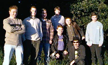 BUGS members at the first meeting. L-R: Nathan, Nick, Michael, Peter, Sue, Matthew Front L-R: Tom and Andy