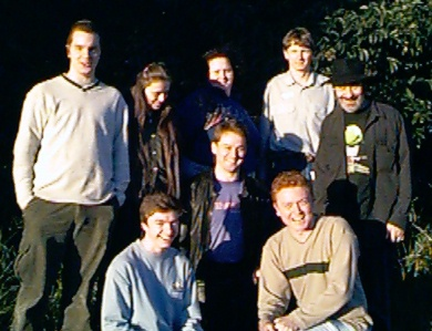 BUGS members at the first meeting. L-R: Nick, Sue, Michaela, Peter, Andy Front L-R: Matthew, Tom and Nathan